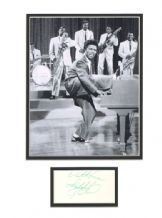 Little Richard Autograph Signed Display